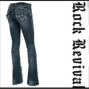 Rock Revival Hayley Bootcut Fleur de Lis Jeans
